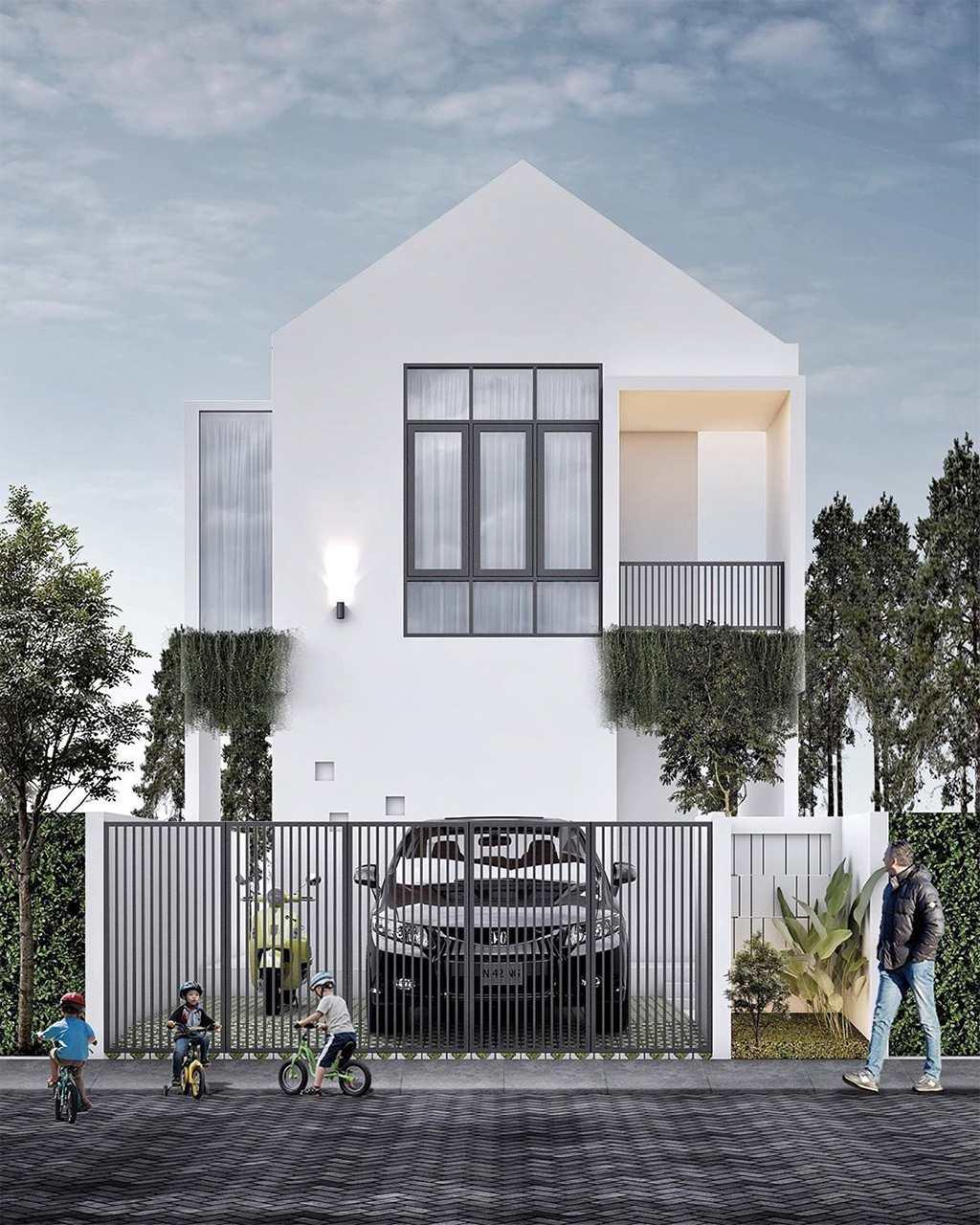 Desain Rumah Minimalis 2 Lantai Modern Terbaru Tampak Depan